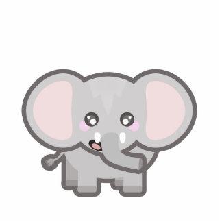 Kawaii elephant standing photo sculpture