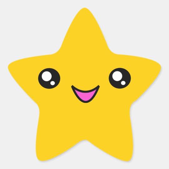 kawaii face gold star sticker zazzle com au starfish clipart black and white starfish clip art outline