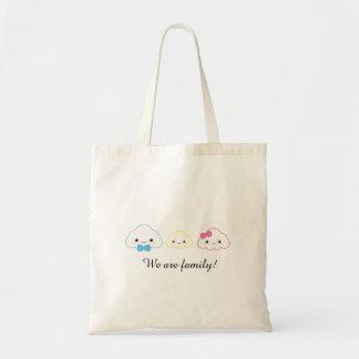 Kawaii Family Cloud Tote Bag