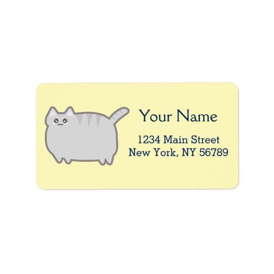 Kawaii Fat Cat Label