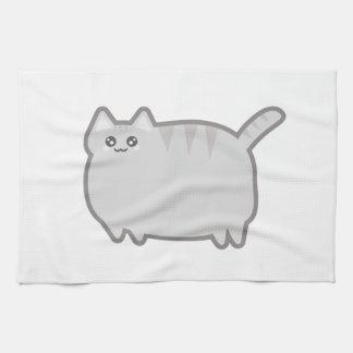 Kawaii Fat Cat Tea Towel