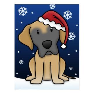 Kawaii Fawn Great Dane Christmas Postcard