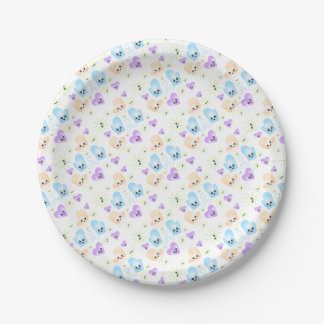 Kawaii Figure Skate Birthday Party 7 Inch Paper Plate