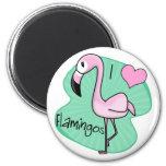 Kawaii Flamingo Magnet