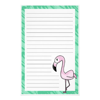 Kawaii Flamingo Stationery