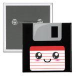 Kawaii Floppy Disc 15 Cm Square Badge