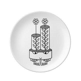 Kawaii flower-like cute cartoon character plates porcelain plates