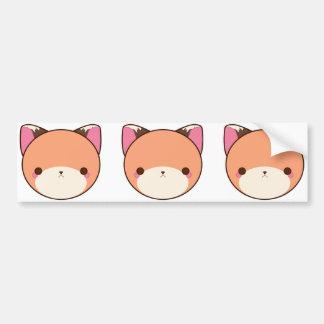 Kawaii Fox Bumper Stickers