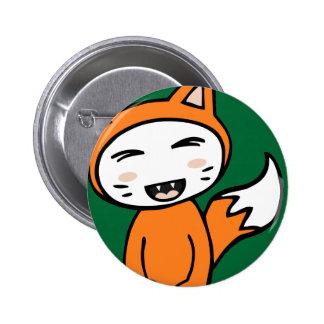 Kawaii Fox Button