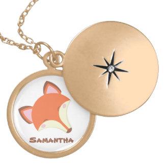 Kawaii Fox Locket Necklace