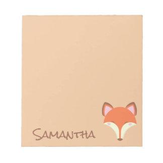 """""""Kawaii Fox"""" Notepad"""
