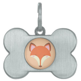Kawaii Fox Pet Name Tag