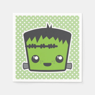 Kawaii Frankenstein Monster Halloween Napkins Paper Napkin