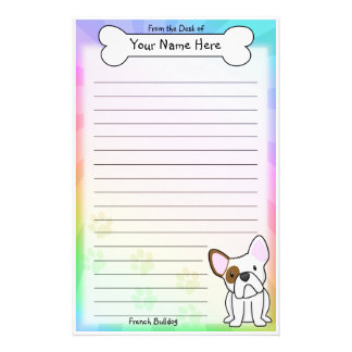 Kawaii French Bulldog Stationery