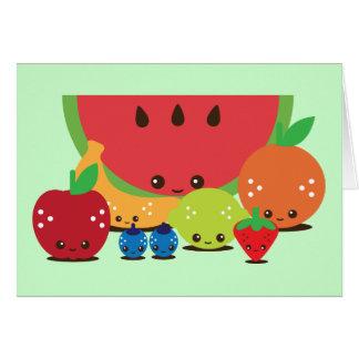 Kawaii Fruit Group Card