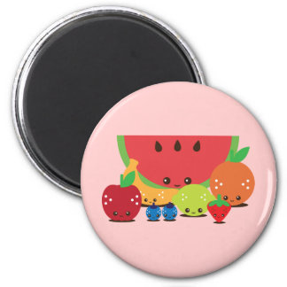 Kawaii Fruit Group Refrigerator Magnets