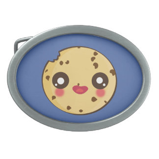 Kawaii, fun and funny cookie beltbuckle oval belt buckle