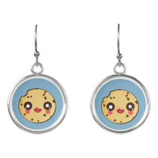 Kawaii, fun and funny cookie earrings