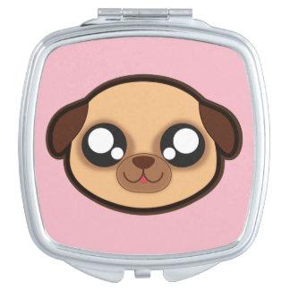 Kawaii, fun and funny doggy compact mirror