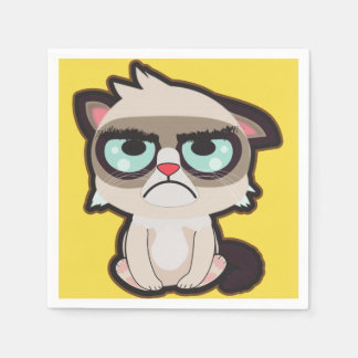 Kawaii, fun and funny grimmy cat napkin disposable napkin