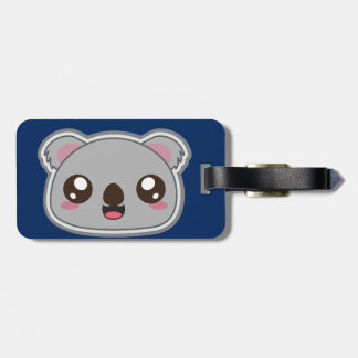 Kawaii, fun and funny koala luggage tag