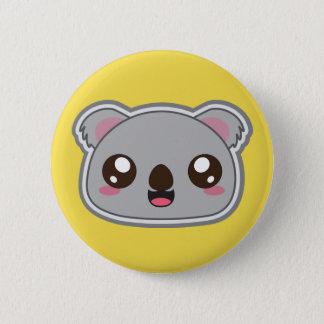 Kawaii, fun and funny koala yellow button