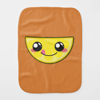 Kawaii, fun and funny lemon burp cloth