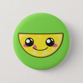 Kawaii, fun and funny lemon button