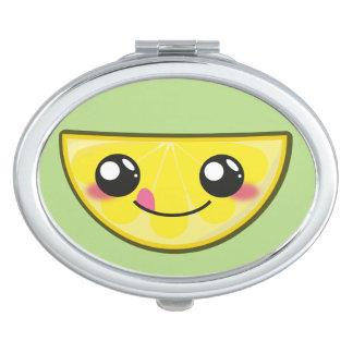 Kawaii, fun and funny lemon mirror for makeup