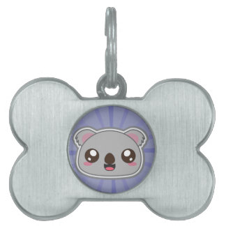 Kawaii, fun, funny and cool koala pet tag