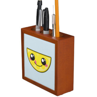Kawaii, fun, funny and cool lemon desk organizer
