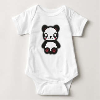 Kawaii, fun, funny and spooky panda shirt for baby