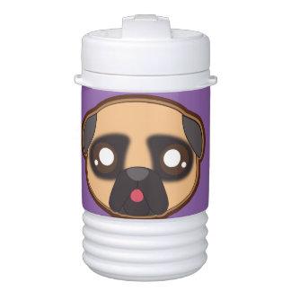 Kawaii funnny pug beverage cooler