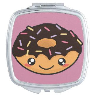 Kawaii funny and cool donut makeup mirrors