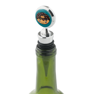 Kawaii funny and cool donut wine stopper
