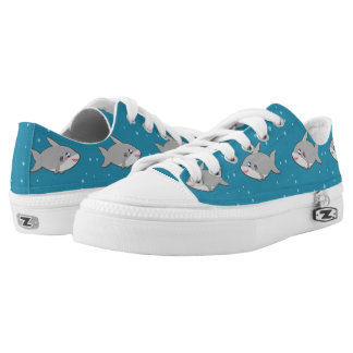 Kawaii funny and cool sharky shoes printed shoes