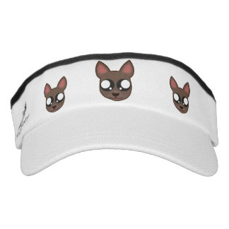 Kawaii, funny and spooky chihuahua head visor