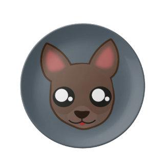 Kawaii funny chihuahua plate