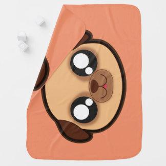 Kawaii funny dog baby blanket