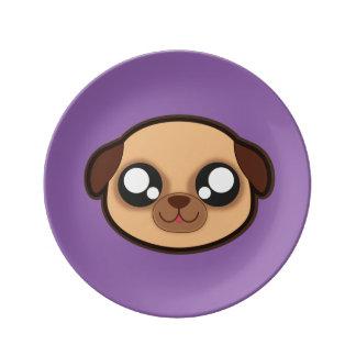 Kawaii funny dog plate