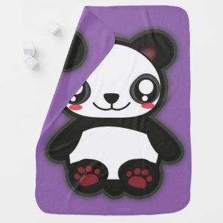 Kawaii funny panda baby blanket