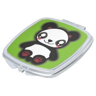 Kawaii funny panda mirror makeup mirrors