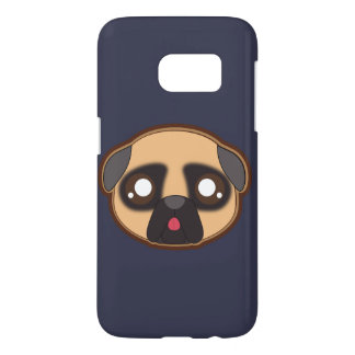 Kawaii funny pug case for sumsung s7