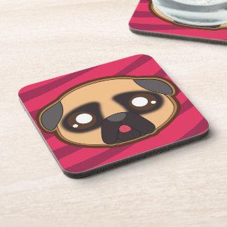 Kawaii funny pug coaster