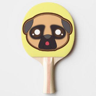 Kawaii funny pug pingpong paddle