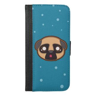 Kawaii funny pug walletcase iPhone 6/6s plus wallet case