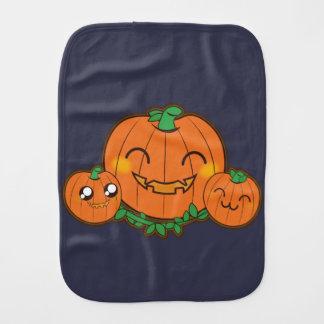 Kawaii funny Pumpkin Burp Cloth