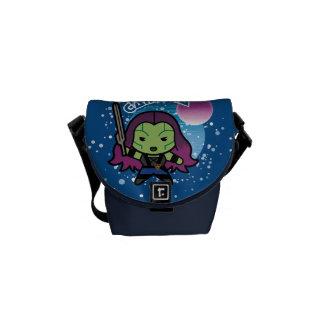 Kawaii Gamora In Space Messenger Bag