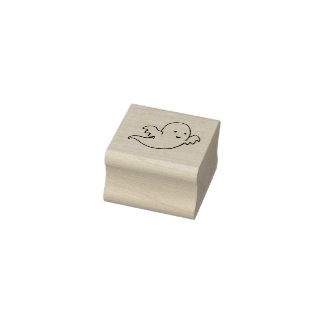 Kawaii ghost rubber stamp