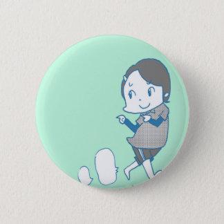 kawaii girl 6 cm round badge